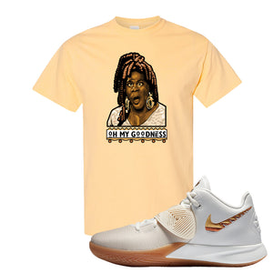Kyrie Flytrap 3 Summit White T Shirt | Oh My Goodness, Yellow Haze