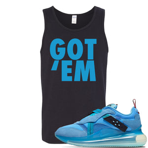 Air Max 720 OBJ Slip Light Blue Tank Top | Black, Got Em