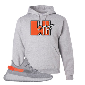 Yeezy Boost 350 V2 Tail Light Sneaker Ash Pullover Hoodie | Hoodie to match Adidas Yeezy Boost 350 V2 Tail Light Shoes | WTF