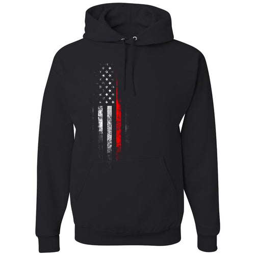 Standard Issue Red Lives Matter Distressed Black Pullover Grunt Life Hoodie