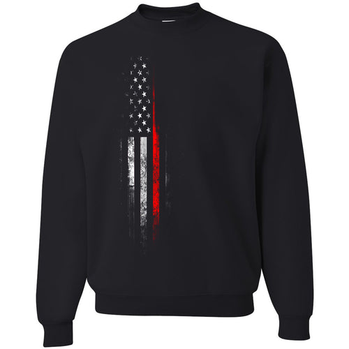 Standard Issue Red Lives Matter Distressed Black Grunt Life Crewneck Sweater