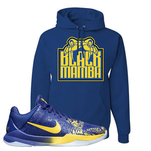 Kobe 5 Protro 5 Rings Hoodie | Black Mamba, Royal Blue