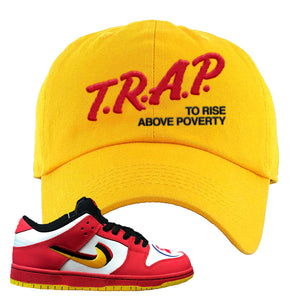 Nike Dunk Low Vietnam 25th Anniversary Dad Hat | Trap To Rise Above Poverty, Gold