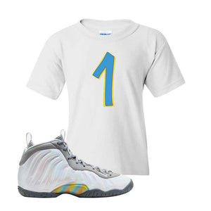Lil Posite One Rainbow Pixel Kids T Shirt | White, Penny One