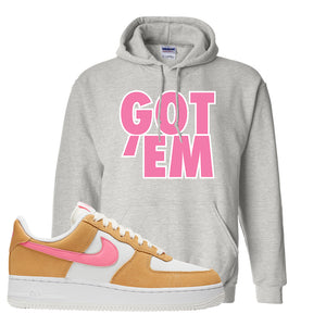 Nike Air Force 1 Pink Orange Hoodie  | Got Em, Ash