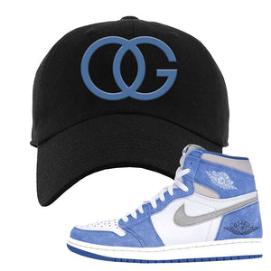 Air Jordan 1 High Hyper Royal Dad Hat | OG, Black