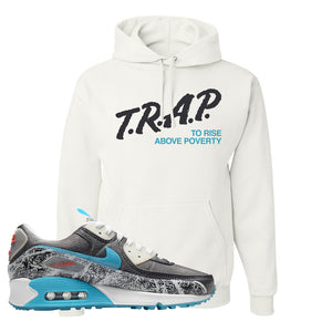 Air Max 90 Rice Ball Hoodie | Trap To Rise Above Poverty, White