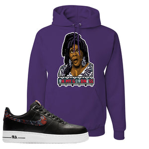Air Force 1 Low Black Floral Hoodie | Oh My Goodness, Deep Purple