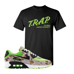 Air Max 90 Duck Camo Ghost Green T Shirt | Black, Trap To Rise Above Poverty
