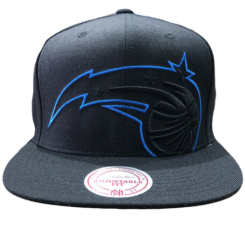 huge selection of 0fb3f cf395 embroidered on the front of the orlando magic snapback hat is the orlando  magic logo in