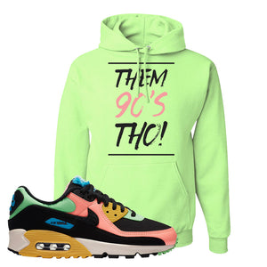 Furry Air Max 90 Bright Neon Pullover Hoodie | Them 90s Tho, Neon Green