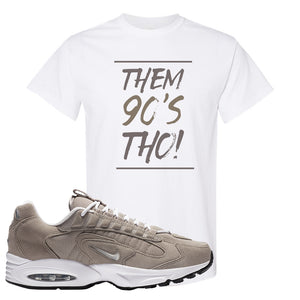 Air Max Triax 96 Grey Suede T Shirt | Them 90's Tho, White