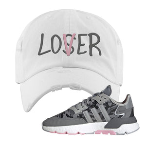 WMNS Nite Jogger True Pink Camo Distressed Dad Hat | White, Lover