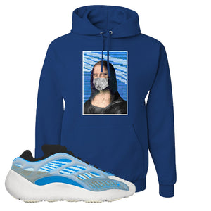Yeezy 700 v3 Azareth Hoodie | Royal Blue, Mona Lisa Mask