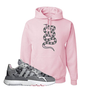 WMNS Nite Jogger True Pink Camo Hoodie | Classic Pink, Coiled Snake
