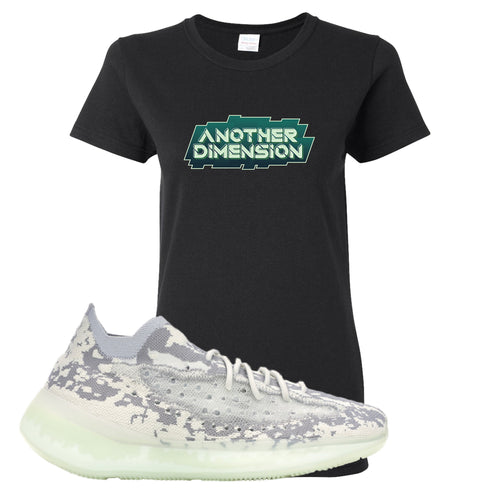 Yeezy Boost 380 Alien Another Dimension Black Sneaker Matching Women's T-Shirt