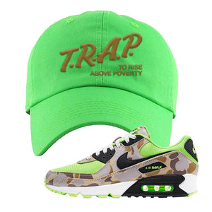 Air Max 90 Duck Camo Ghost Green Dad Hat | Neon Green, Trap To Rise Above Poverty