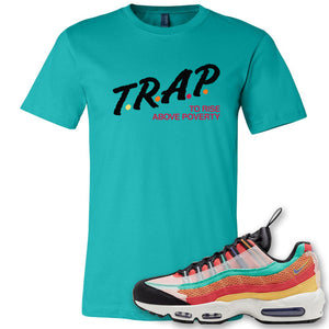 Air Max 95 Black History Month Sneaker Antique Jade Dome T Shirt | Tees to match Nike Air Max 95 Black History Month Shoes | Trap To Rise Above Poverty
