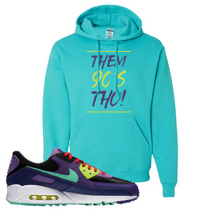 Air Max 90 Cheetah Hoodie | Them 90's Tho, Scuba Blue