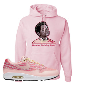 Air Max 1 Strawberry Lemonade Pullover Hoodie | Watchu Talkin Bout, Light Pink