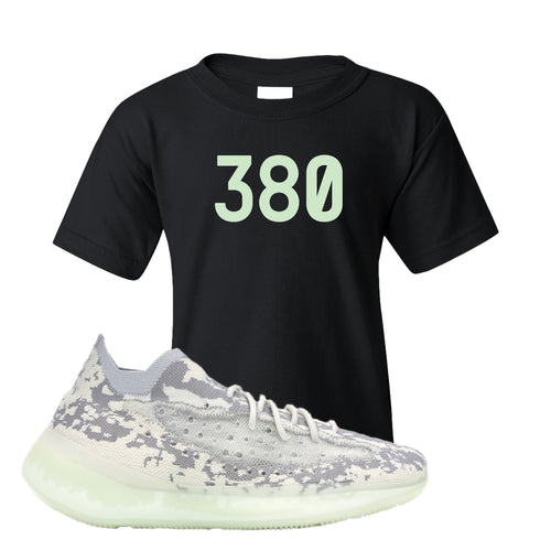 Yeezy Boost 380 Alien 380 Black Sneaker Matching Kid's T-Shirt