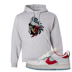 Dunk Low Disrupt Gym Red Hoodie | Indian Chief, Ash
