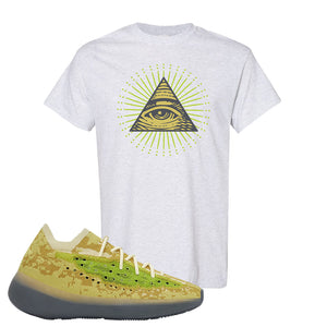 Yeezy Boost 380 Hylte Glow T Shirt | All Seeing Eye, Ash