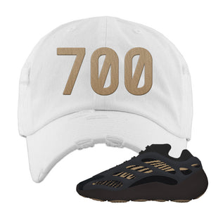 Yeezy 700 v3 Eremial Distressed Dad Hat | 700, White