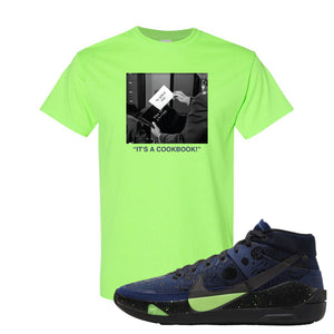 KD 13 Planet of Hoops T Shirt | To Serve Man, Neon Green