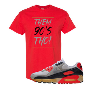 Air Max 90 Infrared T Shirt | Them 90's Tho, Red