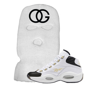 Reebok Question Mid Black Toe Ski Mask | White, OG