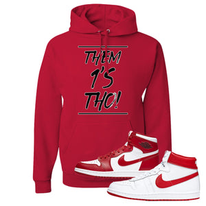 Jordan 1 New Beginnings Pack Sneaker Red Pullover Hoodie | Hoodie to match Nike Air Jordan 1 New Beginnings Pack Shoes | Them 1's Tho