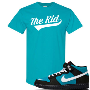 SB Dunk Mid 'Griffey' T Shirt | Tropical Blue, The Kid