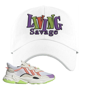 Ozweego Chaos Dad Hat | White, Living Savage