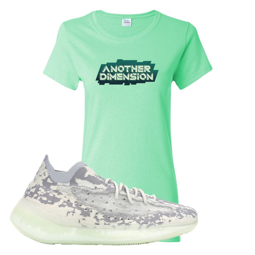 Yeezy Boost 380 Alien Another Dimension Mint Green Sneaker Matching Women's T-Shirt