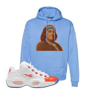 Question Low Vivid Orange Hoodie | Franklin Headband, Carolina Blue
