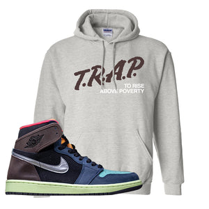 Air Jordan 1 Retro High OG 'Bio Hack' Hoodie | Ash, Trap To Rise Above Poverty