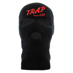 Trap To Rise Above Poverty Black 3 Hole Ski Mask