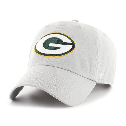a432ab3aa76bd ... promo code embroidered on the front of the green bay packers gray dad  hat is the
