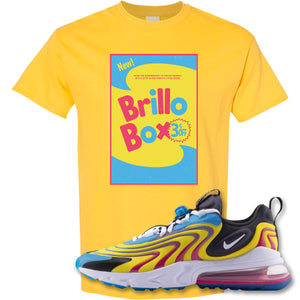 Brillo Box Daisy T-Shirt to match Air Max 270 React ENG Laser Blue Sneakers