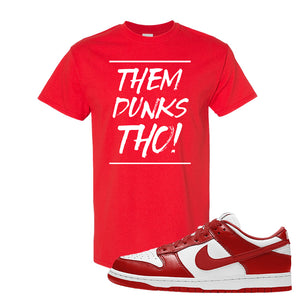 SB Dunk Low St. Johns T Shirt | Them Dunks Tho, Red