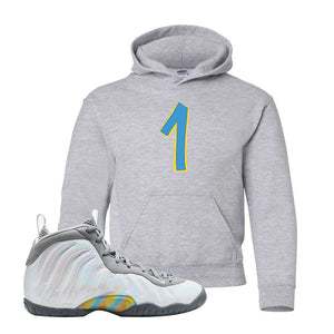 Lil Posite One Rainbow Pixel Kids Hoodie | Sport Grey, Penny One