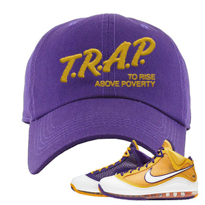 Lebron 7 'Media Day' Dad Hat | Purple, Trap To Rise Above Poverty