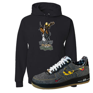 Air Force 1 Low Plaid And Camo Remix Pack Hoodie | Dont Hate The Playa, Black