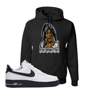 Air Force 1 Low White Black Hoodie | Black, Oh My Goodness