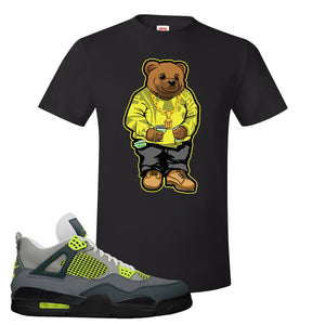 Jordan 4 Neon T-Shirt | Black, Sweater Bear