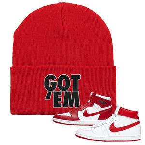 Jordan 1 New Beginnings Pack Sneaker Red Beanie | Beanie to match Nike Air Jordan 1 New Beginnings Pack Shoes | Got Em