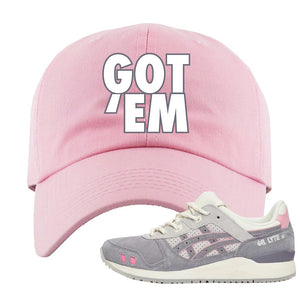 END x Asics Gel-Lyte III Grey And Pink Dad Hat | Got Em, Pink