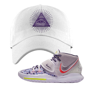 Kyrie 6 Asia Irving Dad Hat | All Seeing Eye, White