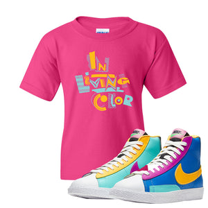 Blazer Mid Big Kids T Shirt | Heliconia, In Living Color